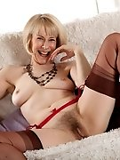 Mature Hazel in sexy stockings